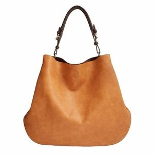 Sole Society Brown Capri Hobo Tote Faux Leather